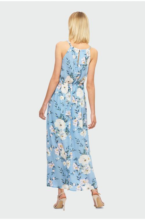 Wiskozowa sukienka maxi