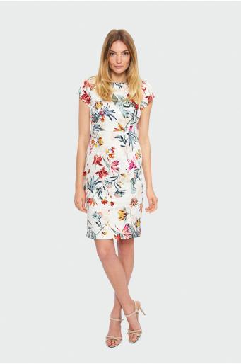 Ołówkowa sukienka w kwiaty
