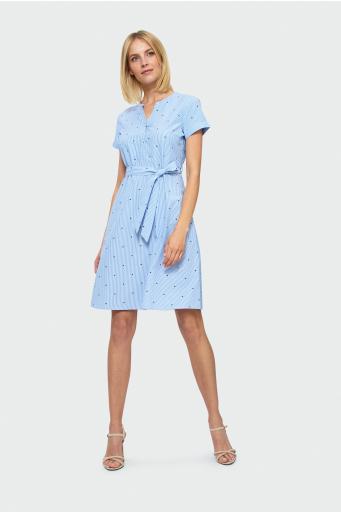 Rozkloszowa sukienka w paski