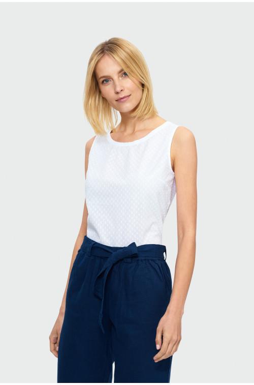 Biała bawełniana bluzka
