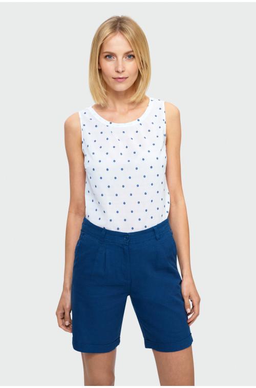 Bawełniana bluzka w groszki
