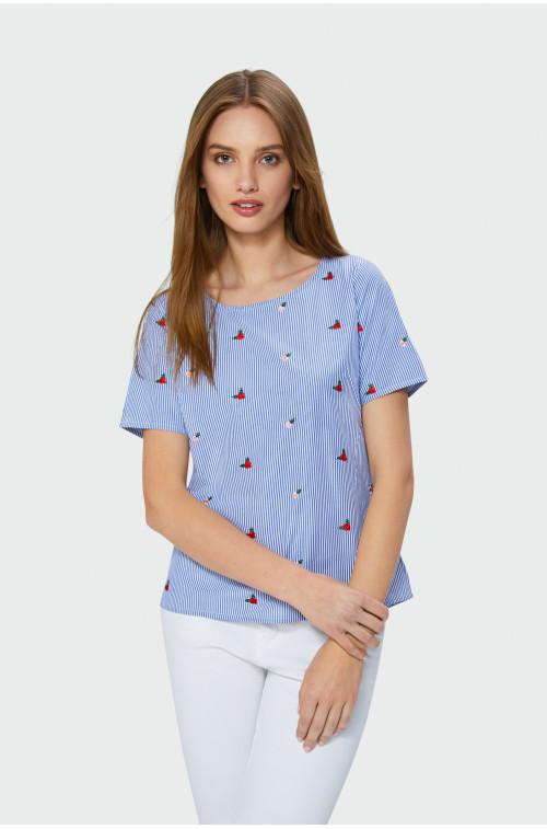 Bawełniana bluzka z krótkim rękawem