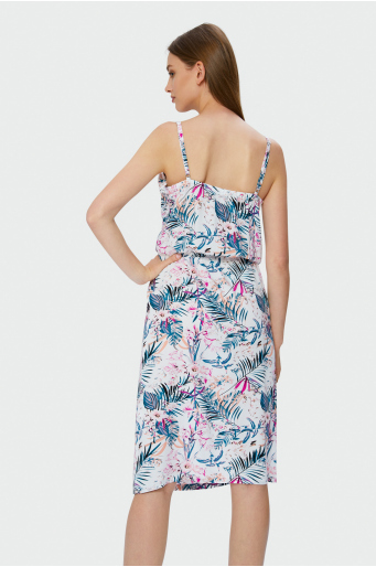 Wiskozowa sukienka na cienkich ramiączkach