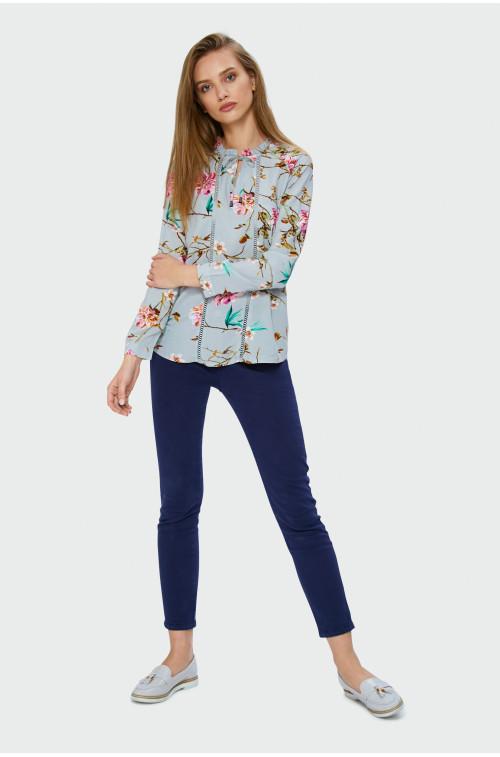 Wiskozowa bluzka z nadrukiem w kwiaty