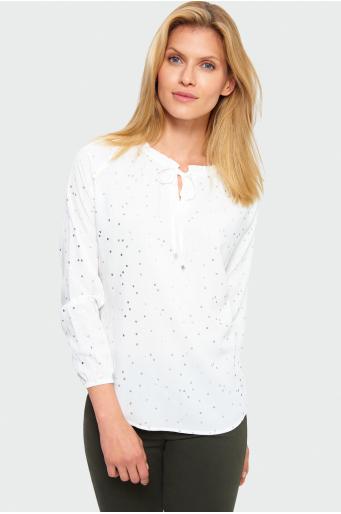 Wiskozowa bluzka w kropki