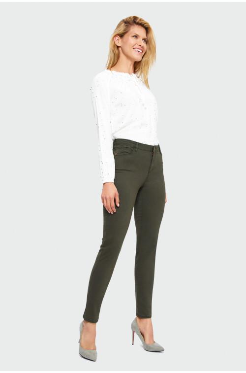 Spodnie z dopasowaną nogawką