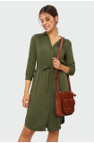 Zielona sukienka szmizjerka
