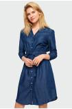 Denimowa sukienka koszulowa