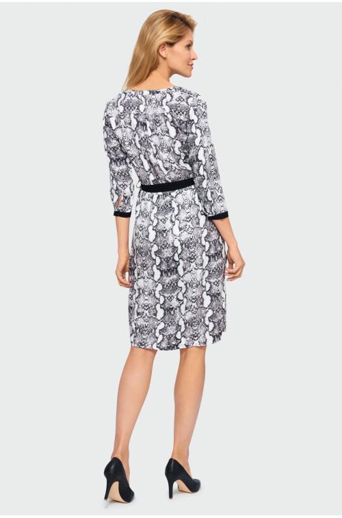 Sukienka wiskozowa z nadrukiem