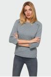Wzorzysta bluzka z nadrukiem w pepitkę