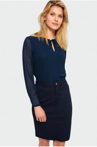 Elegancka bluzka w groszki