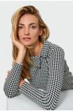Elegancka bluzka w kratę
