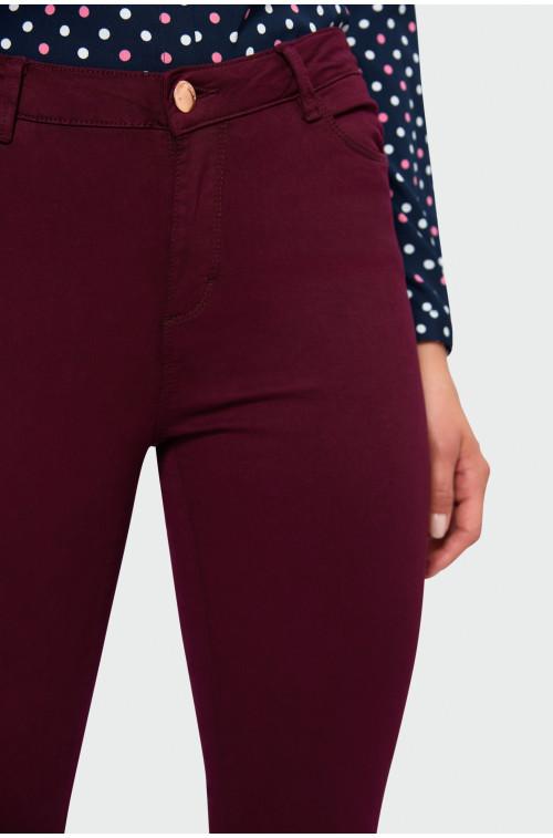 Dopasowane spodnie z wysokim stanem