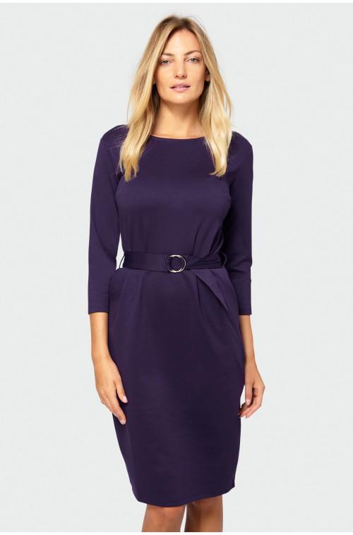 Sukienka z zakładkami