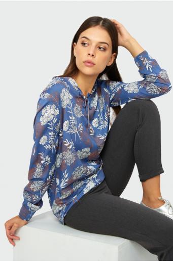 Wiskozowa bluzka z nadrukiem