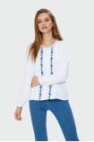 Biała bluzka z haftem