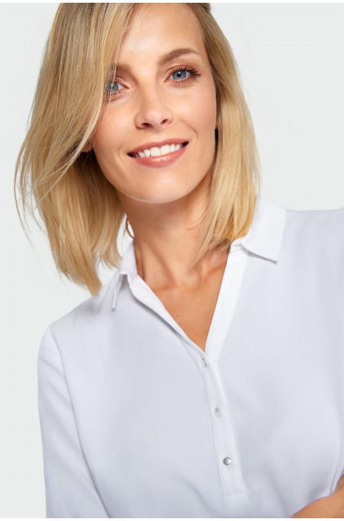 Gładka bluzka z wiskozy