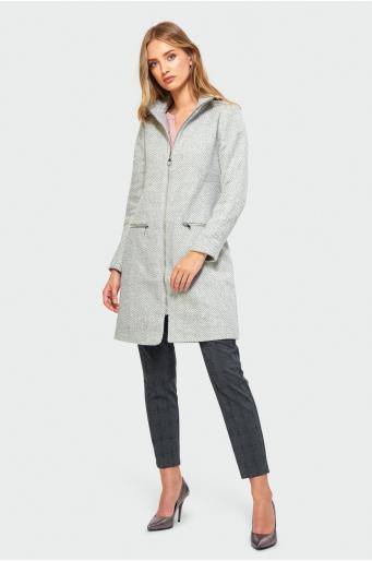 Dopasowany płaszcz ze stójką