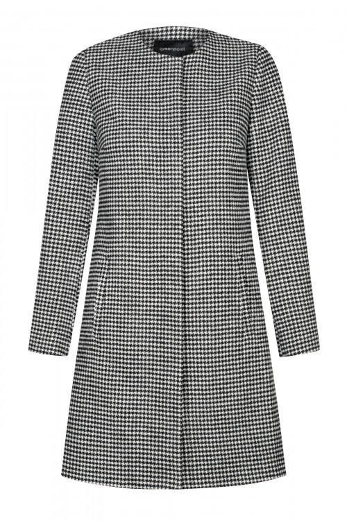 Wzorzysty płaszcz