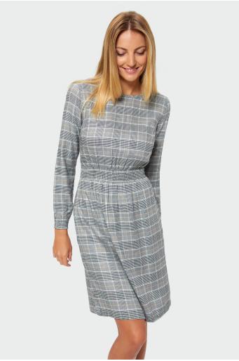 Wiskozowa sukienka w kratę