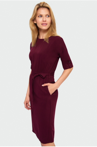 Sukienka z lyocell'u
