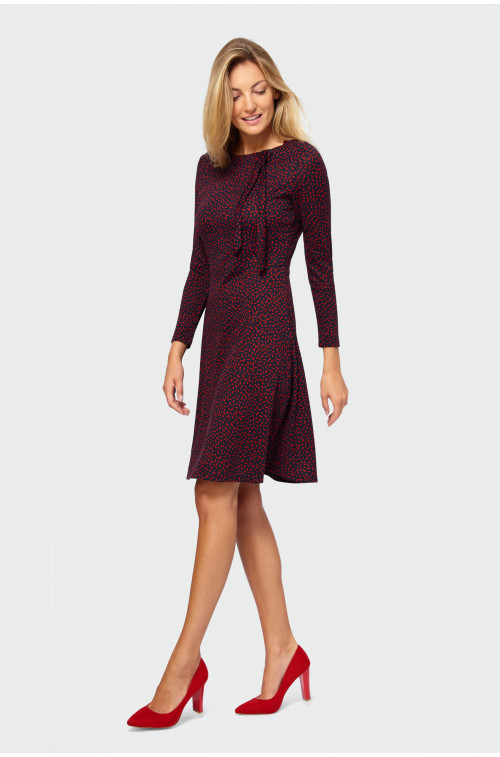 Sukienka rozkloszowana z nadrukiem