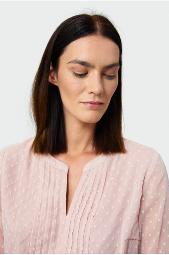Elegancka bluzka z tkaniny plumeti