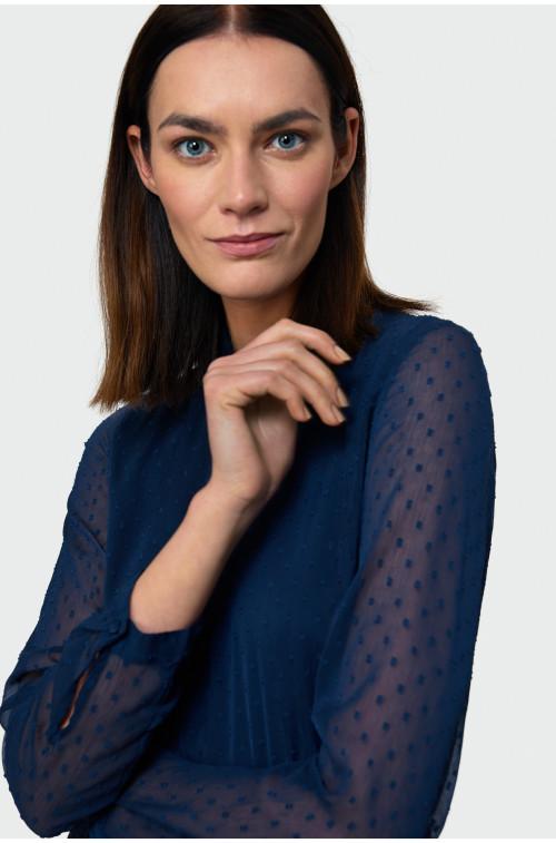 Bluzka z tkaniny plumeti