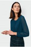 Elegancka bluzka z plisami