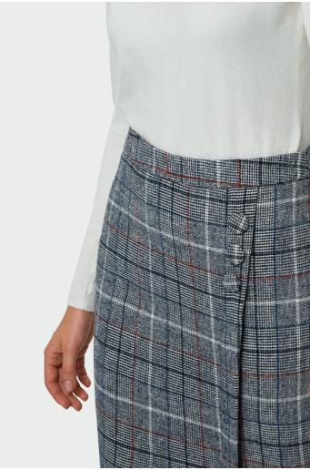 Spódnica ołówkowa w kratę