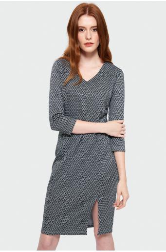 Wzorzysta sukienka ołówkowa