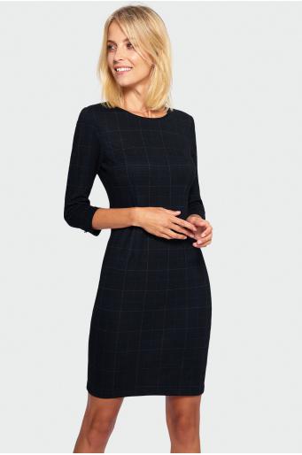 Sukienka ołówkowa w kratę