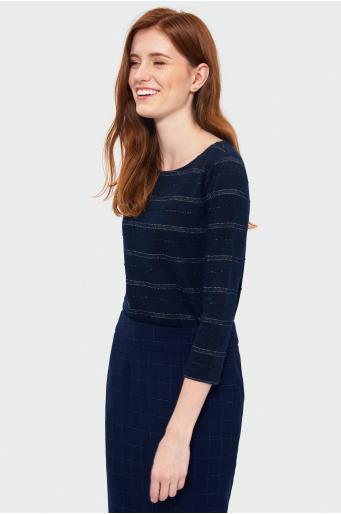 Sweter w paski o dopasowanym kroju