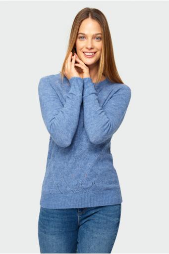 Miękki sweter o dopasowanym kroju
