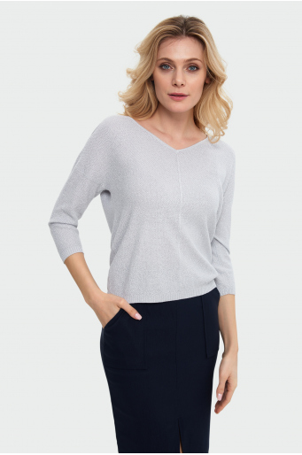 Sweter z polyskiem