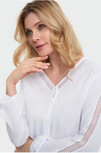Gładka koszula z wiskozy