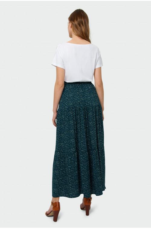 Długa spódnica z falbanami