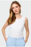 Bawełniana bluzka bez rękawów