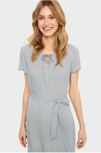Sukienka w kratę