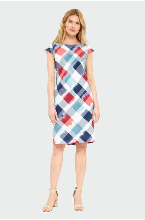 Bawełniana sukienka w kratkę