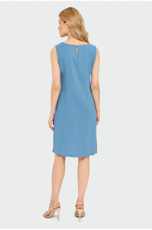 Lniana sukienka
