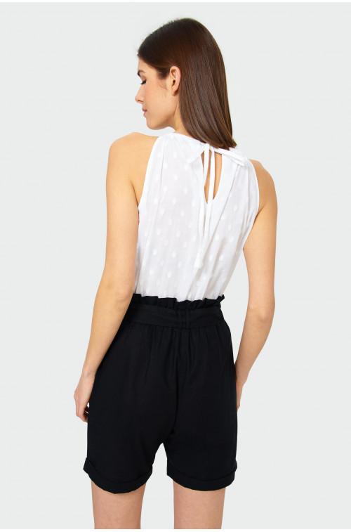 Bawełniana bluzka w kropki
