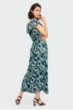 Długa sukienka z nadrukiem