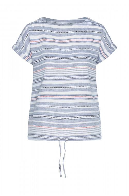 Lniana bluzka w paski
