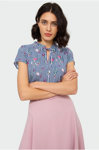 Wiskozowa bluzka z riuszką