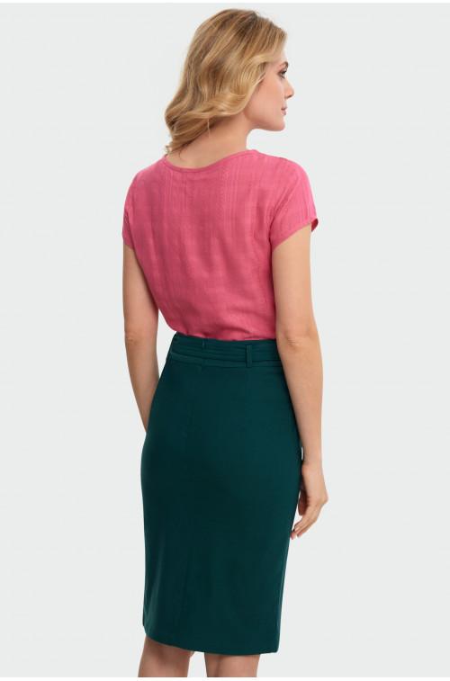 Elegancka bluzka z wiązanem dekoltem