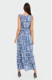 Wiskozowa długa sukienka