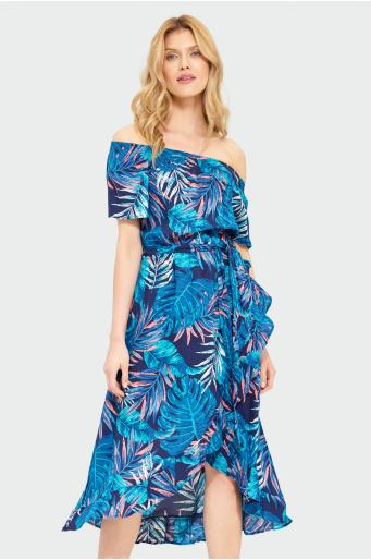 Wiskozowa sukienka carmen