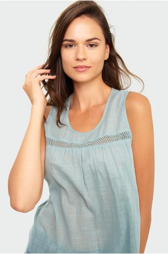 Bawełniana bluzka z wiązaniem na rękawach