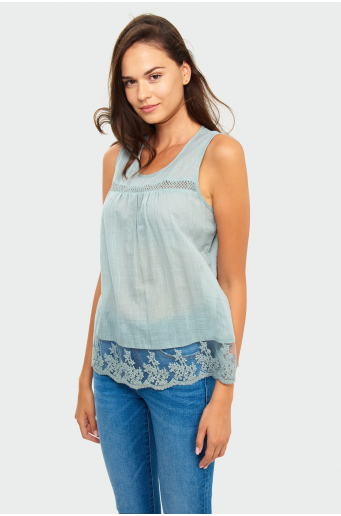 Bawełniana bluzka na ramiączkach